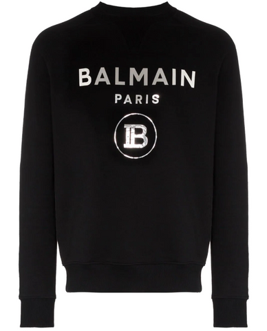 Balmain sweatshirt with silver logo