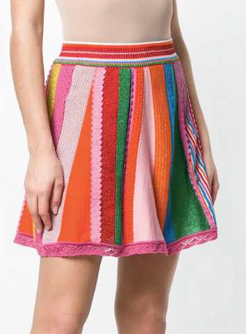MULTI COLOUR SHORT SKIRT FROM MOSCHINO