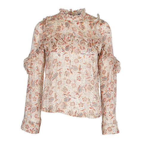 Anett blouse flower