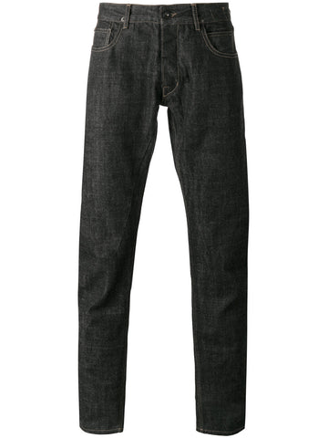 Black cotton regular jeans from Rick Owens