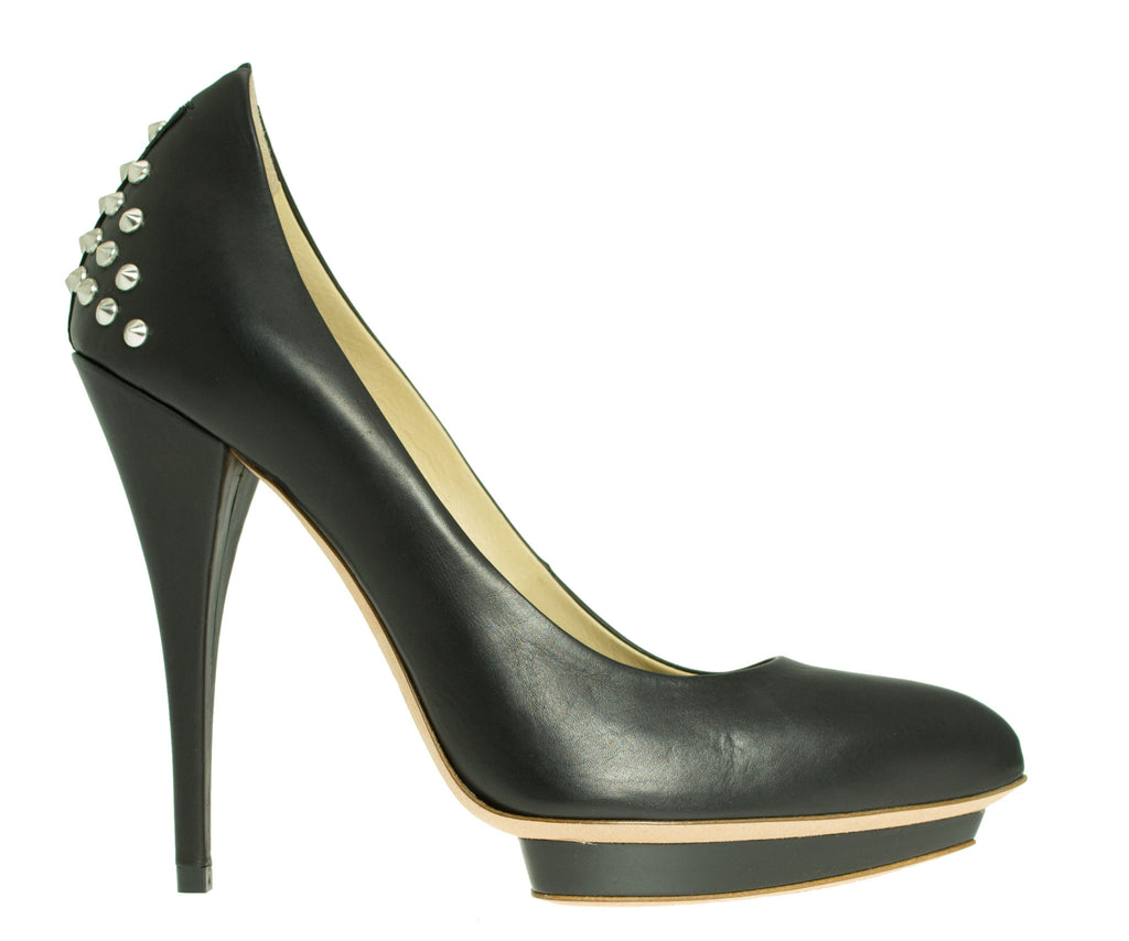 Studded Pump Calf Leather