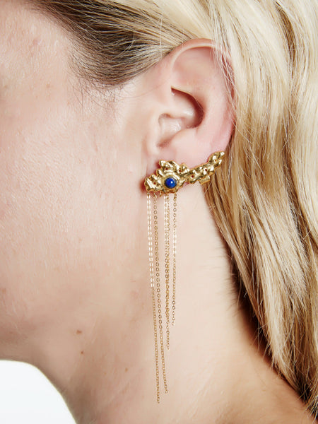 Yellow Gold Ancient Climber Earring