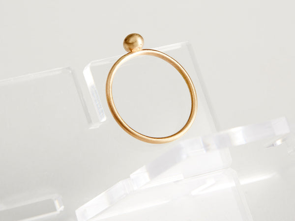 14K Yellow Gold Tiny Bud Stacking Ring