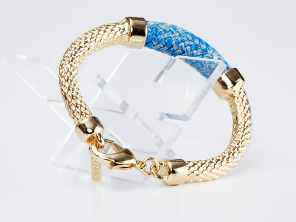 Gold and Blue Crosby Bracelet