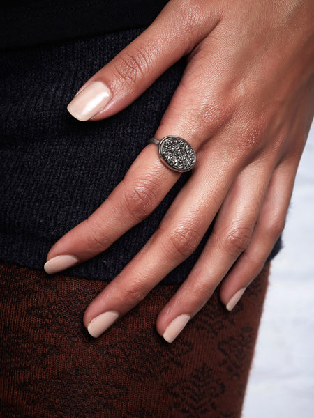 Platinum Drusy Ring