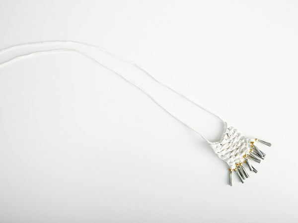 White Dance Macrame Necklace