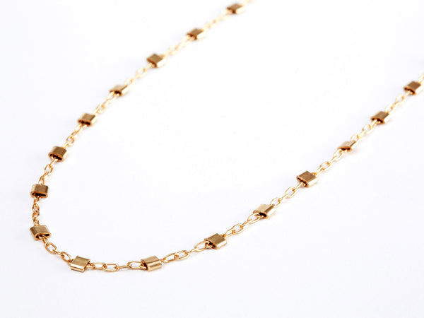 Multi Hammered Bead Necklace