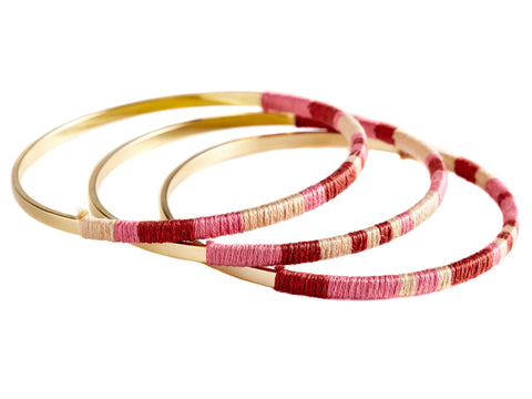Pink / Beige / Burgundy Totem Bangle