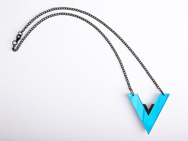 Blue V Necklace