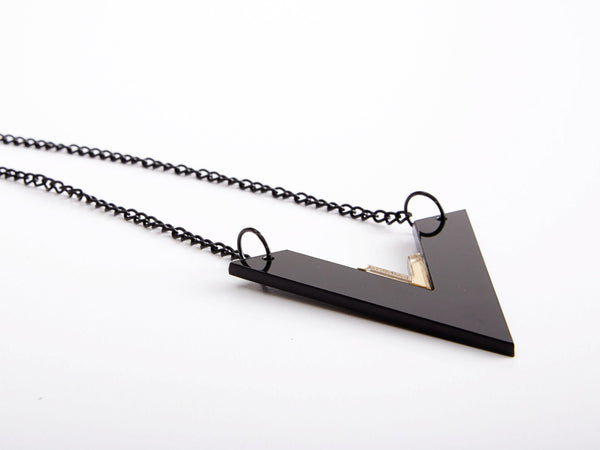 Black V Necklace