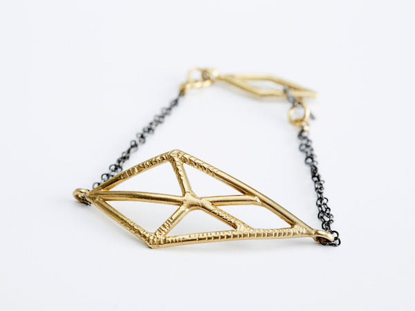 Open Facets Marquise Bracelet