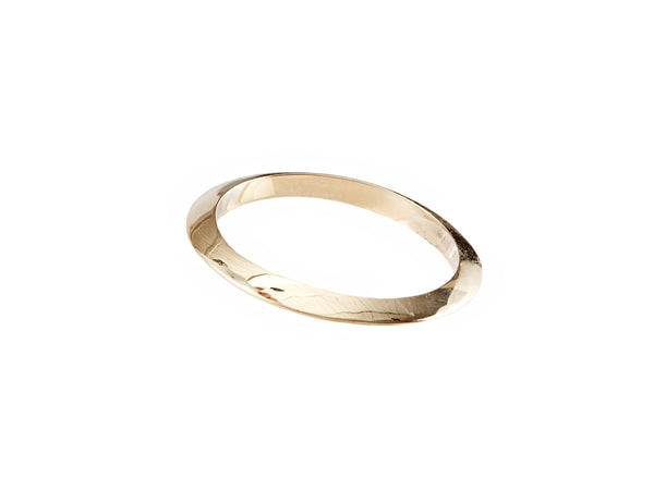 14k yellow gold circle Stack Ring