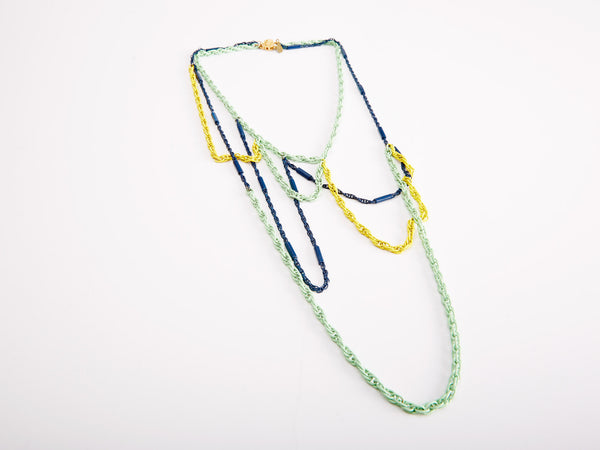 Outline Tricolor Necklace