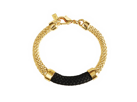 Black and Gold Crosby Bracelet