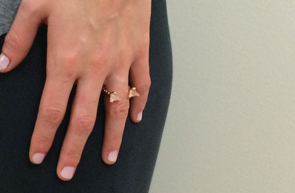 Prism Ring in Quartz and Rose Gold Vermeil