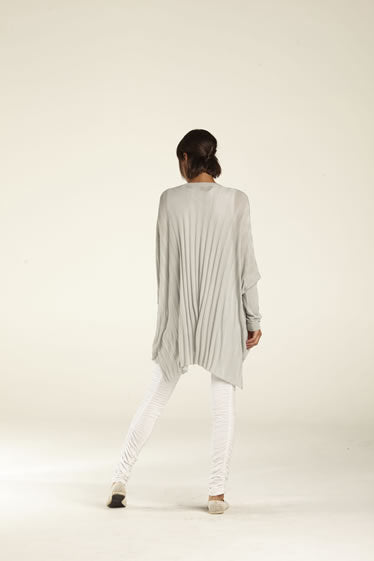 Silky Ribbed Back Cardy