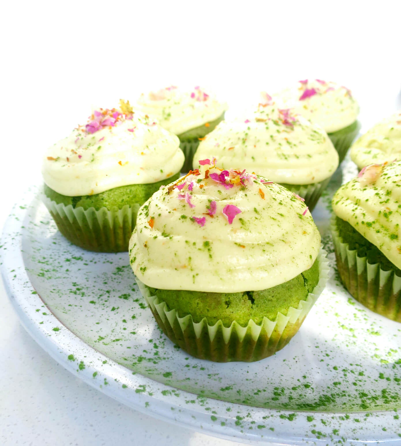 LolaMillieEats' Just Matcha Cupcakes with Orange Frosting