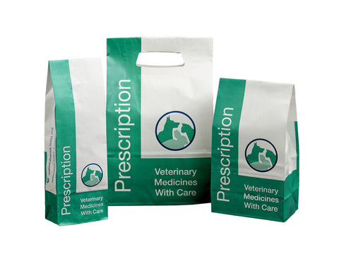 Paper Prescription Bags - NorVap Veterinary