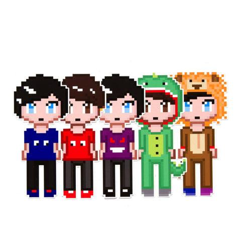 Dan and Phil pixel sticker pack
