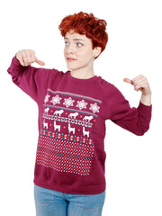 LIMITED Xmas Sweater - Maroon + hand signed Christmas Card