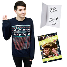 Load image into Gallery viewer, LIMITED Xmas Sweater - Navy + hand signed Christmas Card