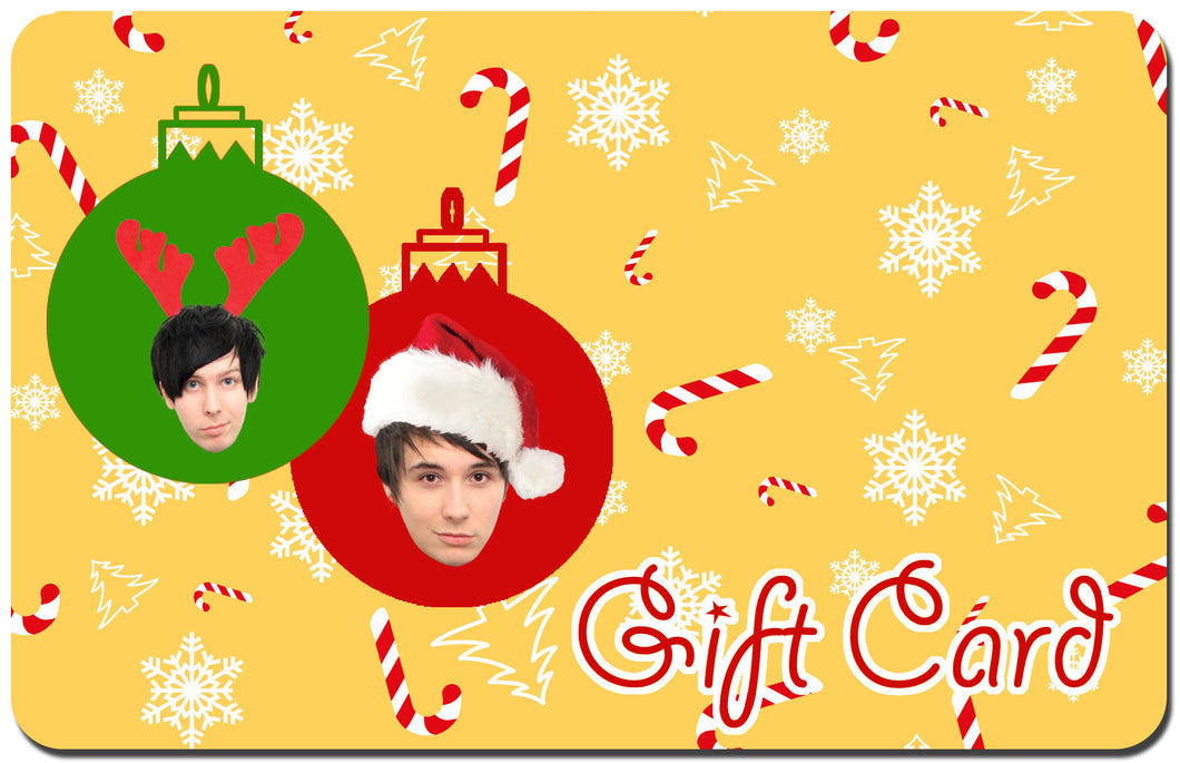 Dan and Phil U.S shop X-Mas Gift Card