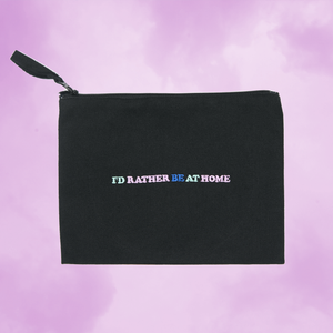 I'd Rather Be At Home Zip Pouch 🌊