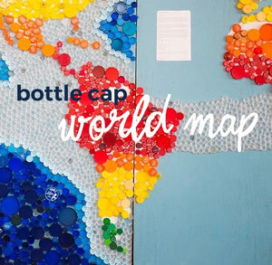 Lifestyle  |  Bottle Cap World Map