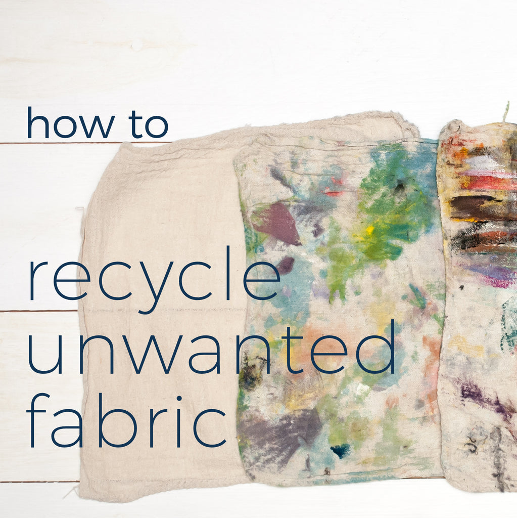 Lifestyle  |  Fabric Recycling (for super tricky materials)!