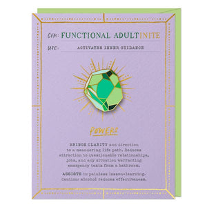 Functional Adult Gem Pin & Card