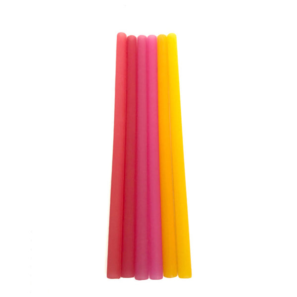Silicone Drinking Straws - Red Ombre Pack