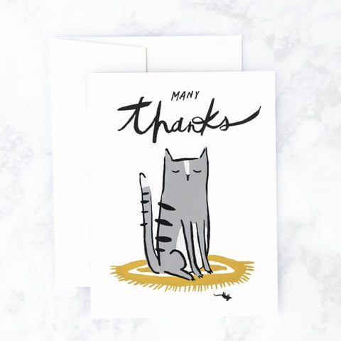 Many Thanks Cat Greeting Card