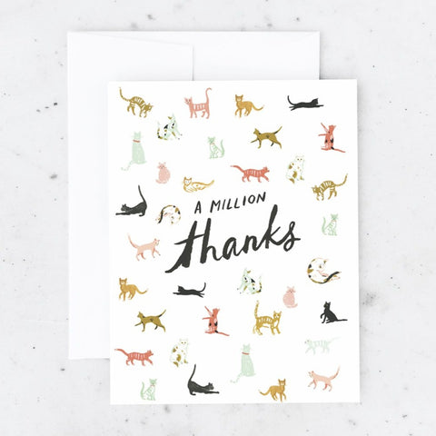 A Million Thanks Cats Greeting Card