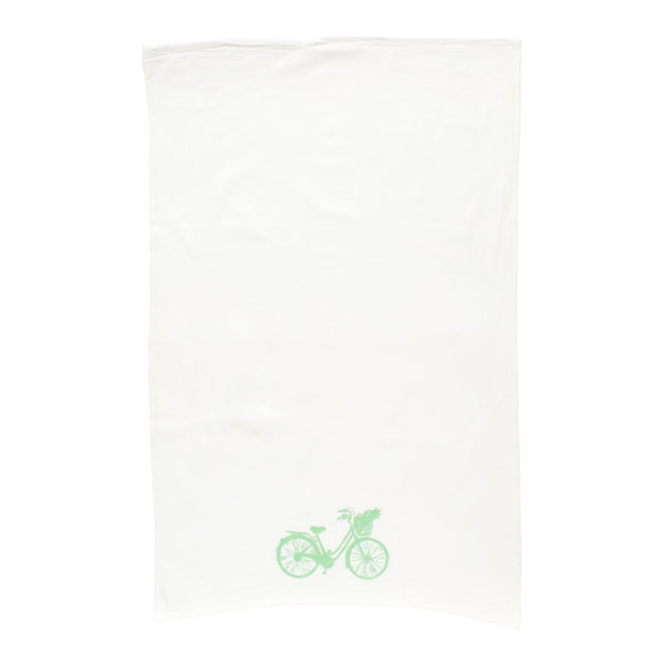 Beach Cruiser Tea Towel - Green
