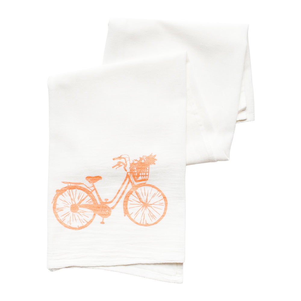 Beach Cruiser Tea Towel - Peach