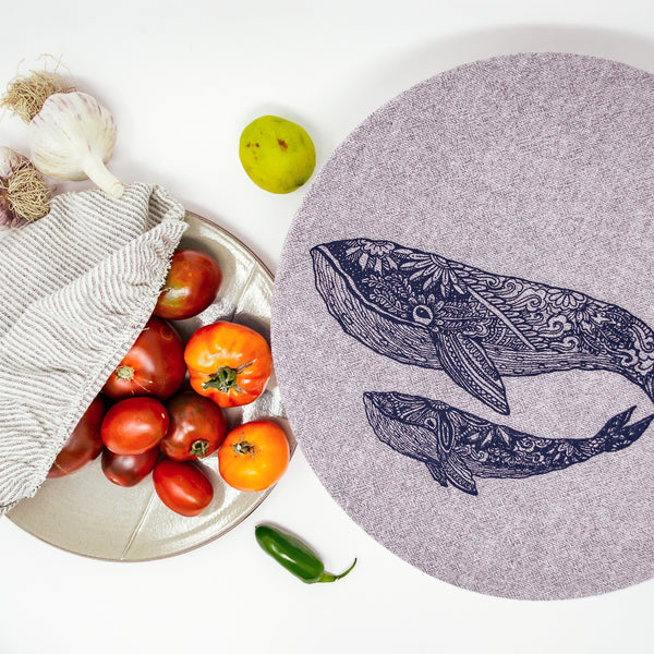Fabric Bowl Cover- Chambray- 10""