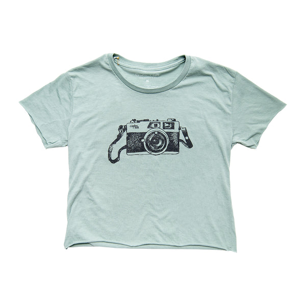 Camera Ladies Crop Tee