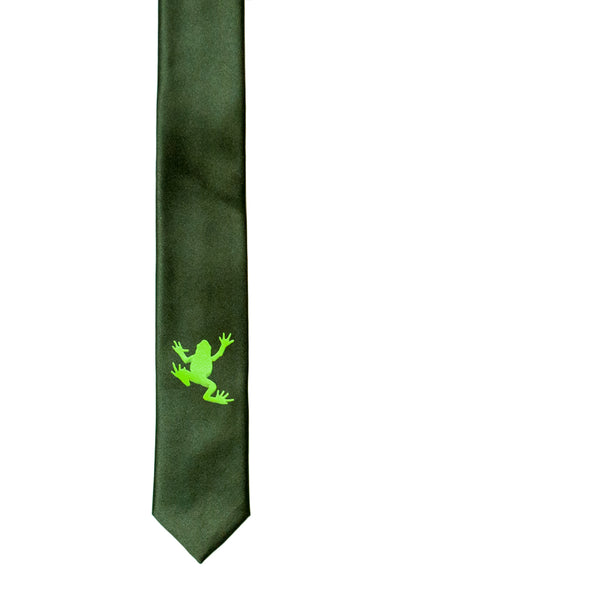 Frog Skinny Tie - Army Green