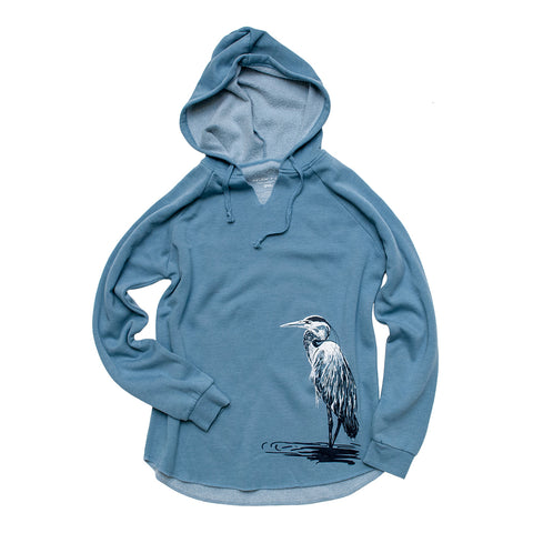 Great Blue Heron Beach Hoodie