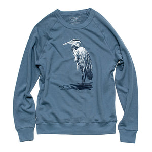 Great Blue Heron French Terry Sweatshirt