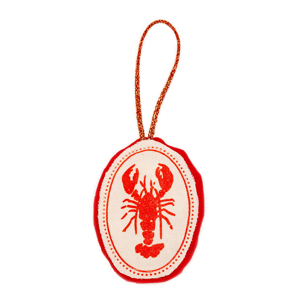 Lobster Plushie Ornament