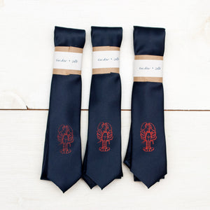 Lobster Skinny Tie - Navy