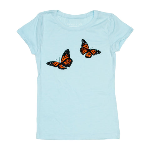 Monarch Butterfly Girls Princess-Cut Tee