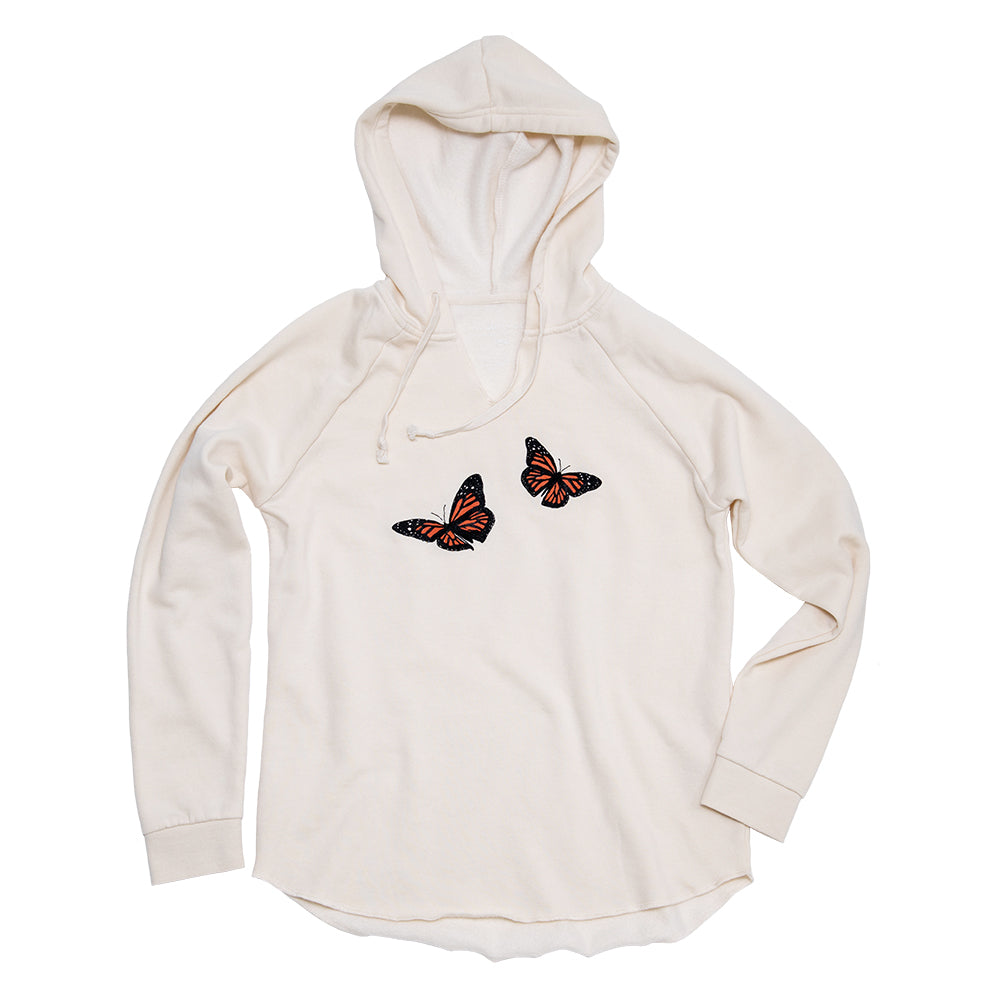 Monarch Butterflies Beach Hoodie