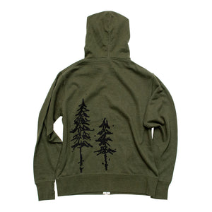 Pine Trees French Terry Zip Hoodie