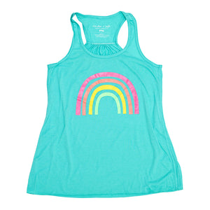 Rainbow Ladies Flowy Tank
