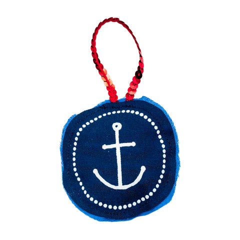 Anchor Plushie Ornament