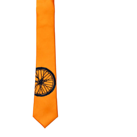 Bike Tire Skinny Tie - Orange