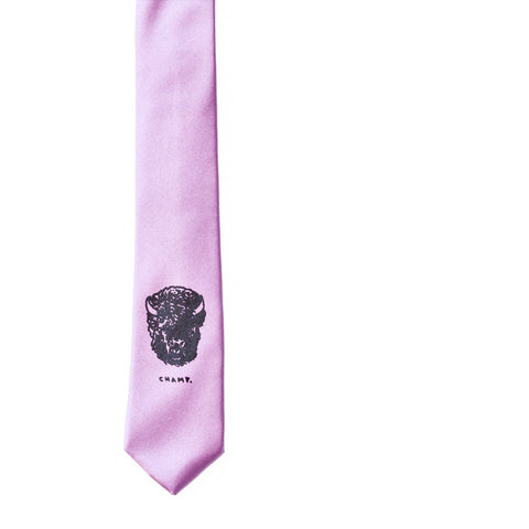 Bison 'Champ' Skinny Tie - English Lavender