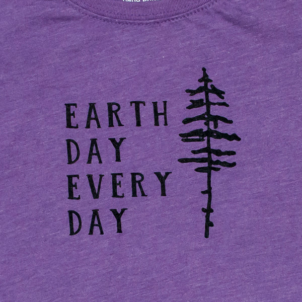 Earth Day Every Day Girls Princess-Cut Tee